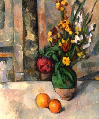 Stillife with apples and flowers