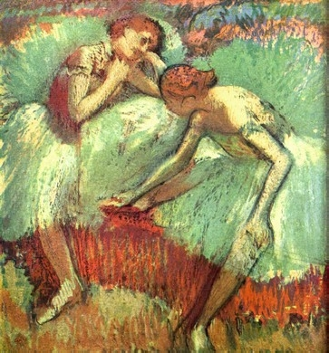 Dancers in green